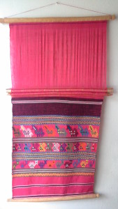 colorful handwoven textile/wall hanging from Guatemala