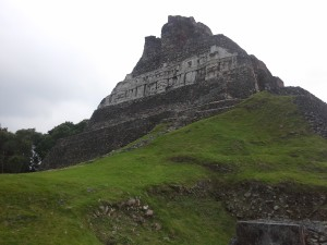 The facade of the Mayan Ruin Xunantunich, Belize