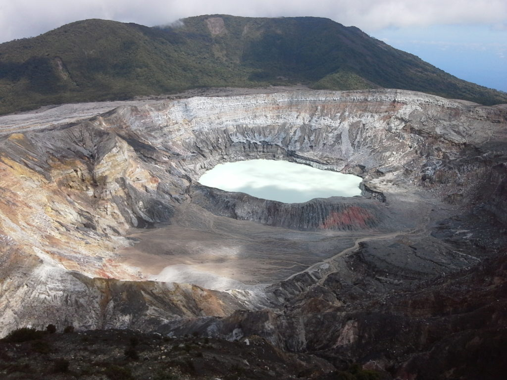 This is a photo of the Poas Volcano crater in Costa Rica